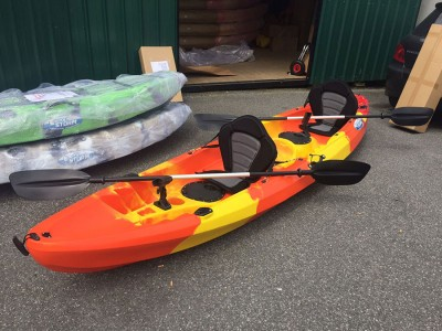 Cyclone 2+1 Family Sit On Kayak Lava Red
