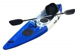 Tornado Single Sit On Kayak White Blue